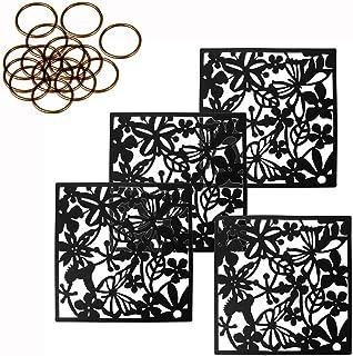 MAFAGE - 4 paneles separadores para colgar en la habitación, decorativos, para hoteles, hogares, bares, habitaciones, 40 x 40 cm