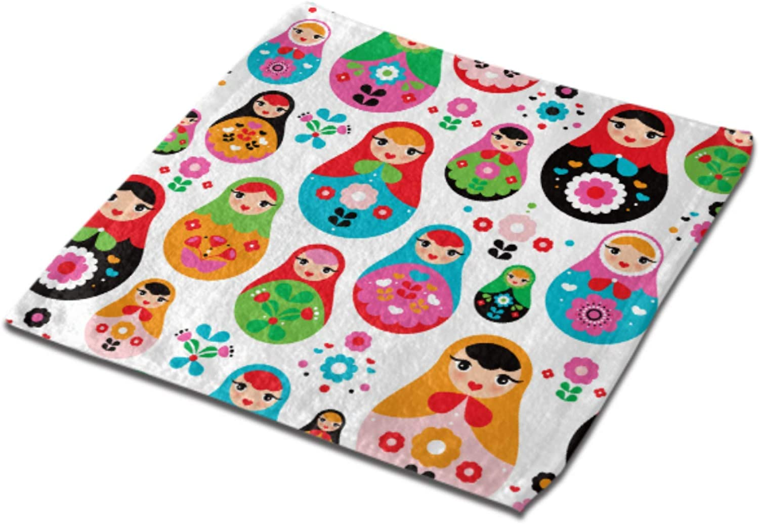 A surprise price is Cheap mail order shopping realized Russian Doll Matryoshka Folk Cleaning Inches 13x13 Superf Towels