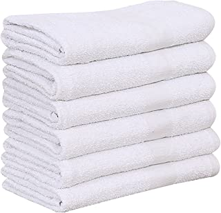 6 new 100/% cotton commercial hand towels utility gym hotel motel 16x27 deal!