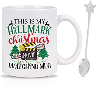 This Is My Hallmark Christmas Movies Watching Mug,Christmas Coffee Mug - Funny Xmas and Personalized Christmas Gift For Best Friend,Lovers,family, Can be used as Tea Drink Cup, Brithday Xmas Gift