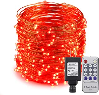 ER CHEN 100ft Led String Lights,300 Led Starry Lights on 30M Copper Wire String Lights Power Adapter + Remote Control(Red)