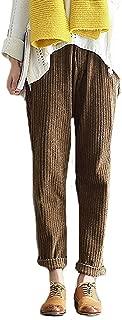 StJoyce Womens Fleece Fall Winter Plus Size Corduroy Harem Casual Pants