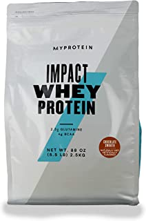 Myprotein® Impact Whey Protein Powder, Chocolate Smooth, 5.5 Lb (100 Servings)