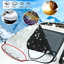 PARAWEYSE Car Windshield Snow Cover,Car Wiper Visor Frost Guard Protector Snow, Ice, Frost,UV Full Protection Thicker 4 Layers Fits for Most Standard Cars,SUV,Large(49