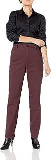 Gloria Vanderbilt Womens Amanda Polished Trouser Pant Pants - red