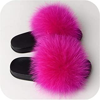 Women Fluffy Flat Home Slippers Female Furry Plush Slides Ladies Winter Warm Casual House Shoes Fashion Plus Size