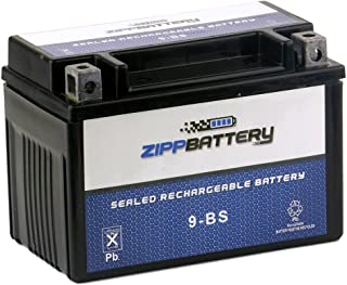 Chrome Battery YTX9-BS Battery - Rechargeable, Factory Sealed, High Performance, 120 CCA, AGM