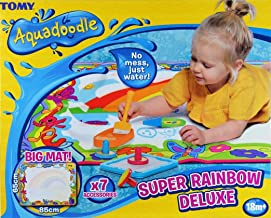 Aquadoodle Super Rainbow Deluxe Large Water Doodle Mat, Official TOMY No Mess Colouring & Drawing Game, Ideal Christmas Gift Suitable for Toddlers and Children From 18 Months