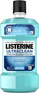 Listerine Mouthwash Ultraclean stain protection, for keeping teeth white, Arctic Mint, 250mL
