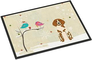 Caroline's Treasures between Friends Brittany Spaniel Indoor or Outdoor Mat 18x27 BB2544MAT 18 x 27 Multicolor