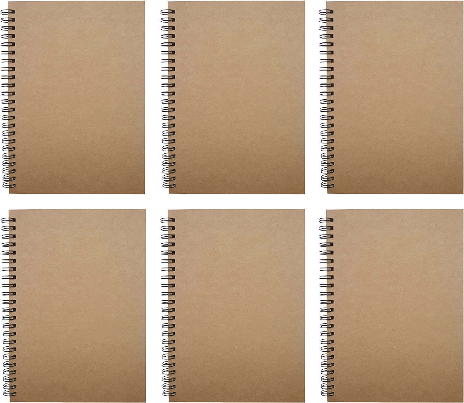 Soft Cover Ranking TOP1 Spiral Notebooks Journal Sketch Books Blank Mail order cheap 6pcs Pad