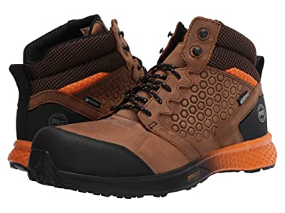 Timberland PRO Reaxion Mid Composite Safety Toe Waterproof (Brown/Orange) Men