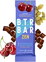 B.T.R. Bar Superfood Keto Protein Bars, Plant Based Vegan Protein, Low Carb Food, Low Calorie, Gluten Free, No Sugar Alcoh...