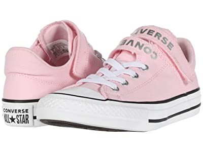 Converse Kids Chuck Taylor(r) All Star(r) Double Strap (Little Kid/Big Kid) (Cherry Blossom/White/Silver) Girl