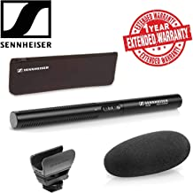 Sennheiser MKE 600 Camcorder Shotgun Microphone with Carrying Case, Shock Mount, Foam Windscreen and 1-Year Extended Warranty