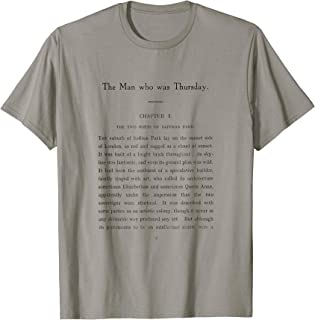 The Man Who Was Thursday G.K. Chesterton First Page T-Shirt