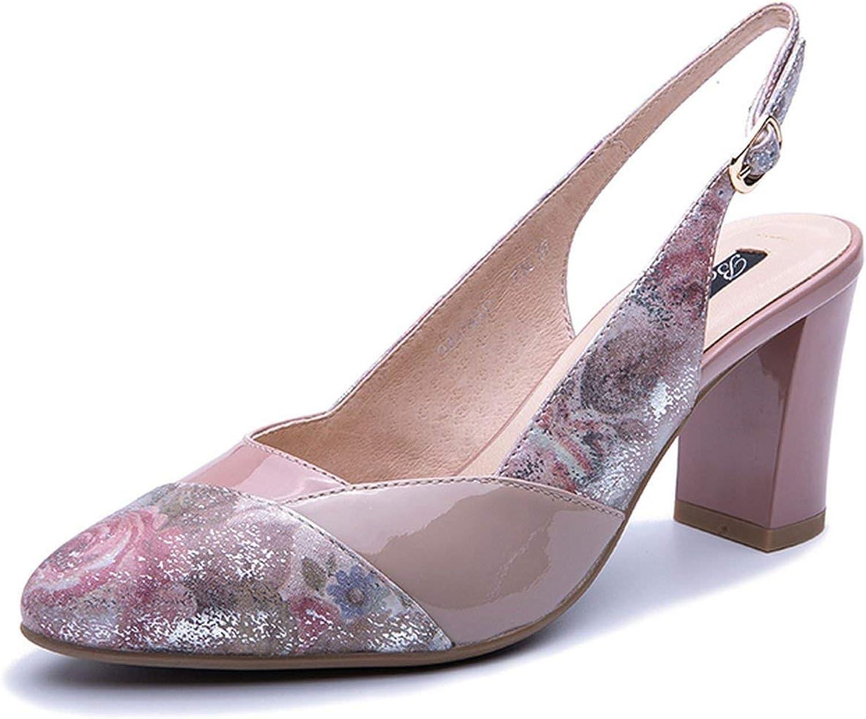 High Heels Leather Sandals High Heels Elegant