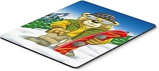 Caroline's Treasures Teddy Bear Snowboarding Mouse Pad, Hot Pad or Trivet, Multicolor (APH0857MP)