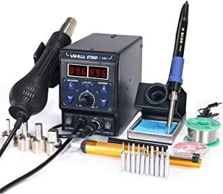 YIHUA 8786D I 2 in 1 Hot Air Rework and Soldering Iron Station with °F /°C, Cool/Hot..