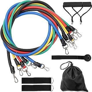 11 Pcs/Set Fitness Puller Multi-functional Muscle Strength Yoga Training Rope Resistance Belt