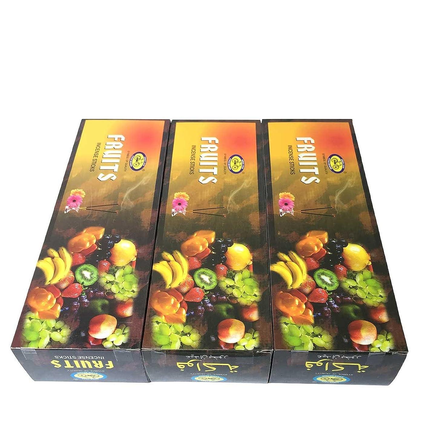 パン屋接触苛性フルーツ香スティック 3BOX(18箱) /CYCLE FRUITS/インセンス/インド香 お香 [並行輸入品]