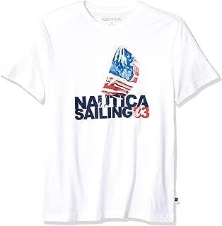 Men's Short Sleeve Crew Neck 100% Cotton Graphic Sail T-Shirt
