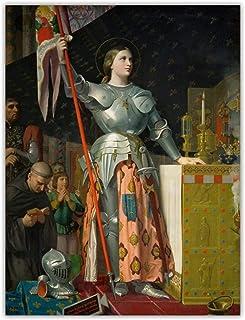 Vscdye Ingres 《Jeanne d'arc au couronnement de Charles VII》 Toile Art Peinture à l'huile Photo Fond Mur décoration de la m...
