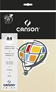 Papel Colorido A4 120g/m², Canson, 66661232, Marfim, 15 Folhas