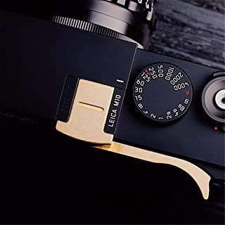 RAYANSPHOTO Thumb Rest Grip with Camera Hot Shoe Cover Brass for Leica M10 Mirrorless M10