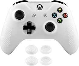 eXtremeRate Soft Anti-Slip Silicone Case Cover Thumb Stick Grip Caps Protector Skins for Xbox One X & One S Controller Sem...