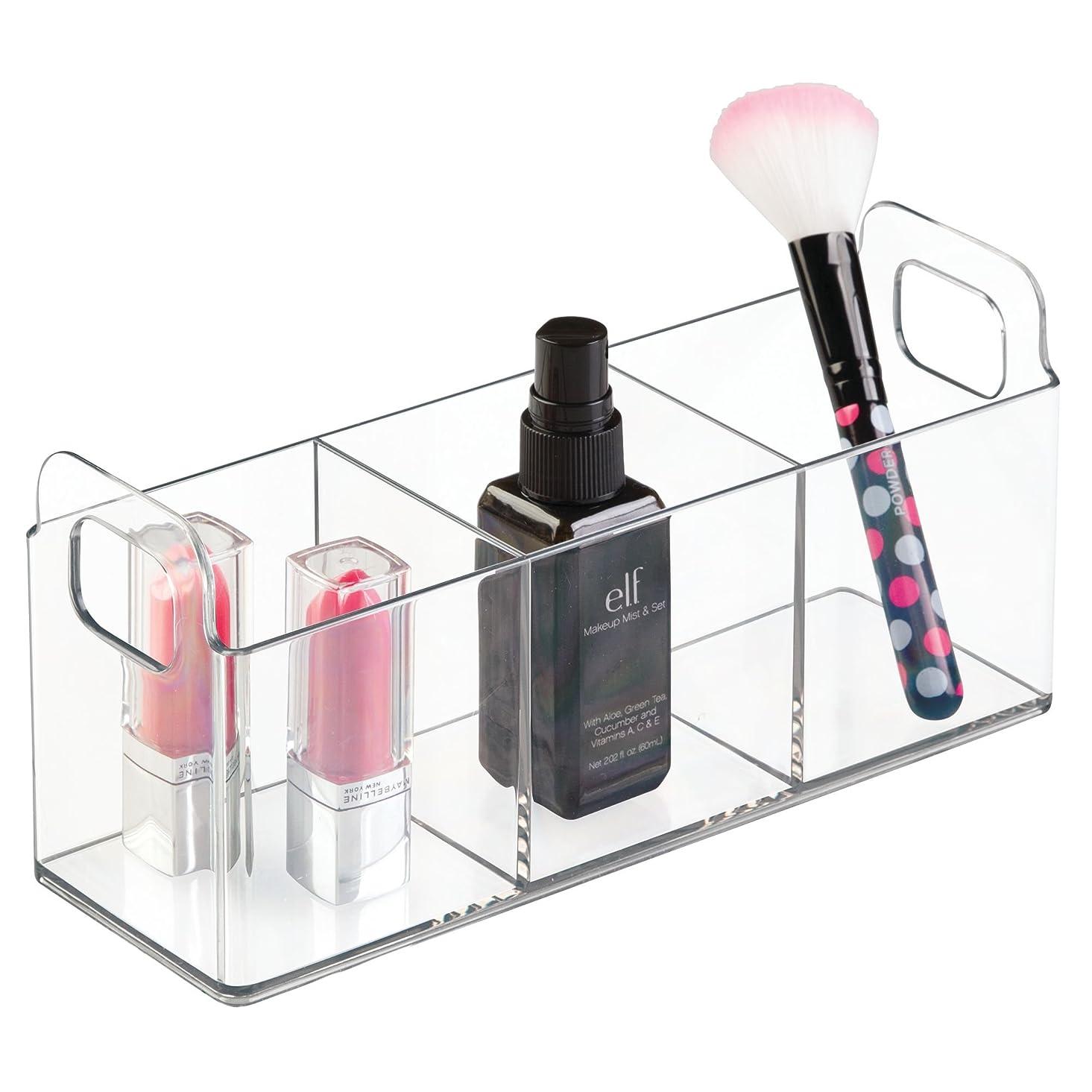 適合屋内増幅するInterDesign 洗面所 化粧品 小物 収納 ボックス オーガナイザー Clarity 23 x 7.5 x 10 31420EJ