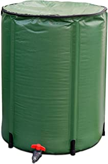 Goplus Portable Rain Barrel Water Collector Collapsible Tank w/Spigot Water Storage Container (60 Gallon)