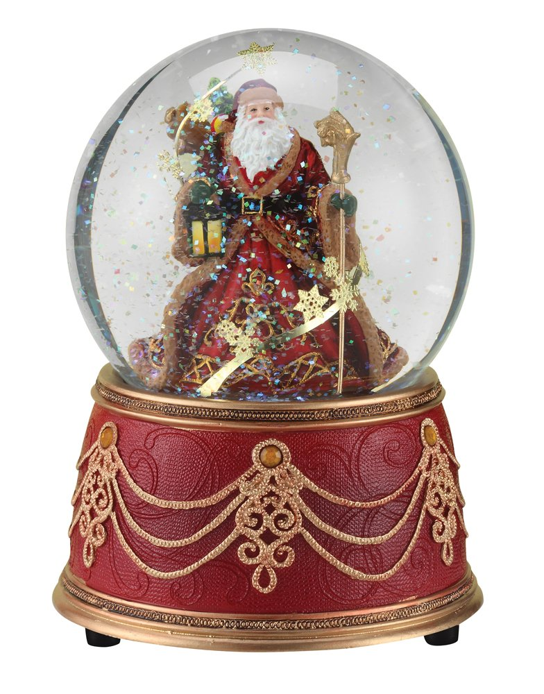 Image of Elegant Musical Santa Claus Snow Globe
