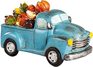 Resin Harvest Blue Truck with Lights by Fox River CreationsTM