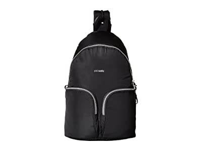 Pacsafe Stylesafe Anti-Theft Convertible Sling to Backpack (Black) Backpack Bags