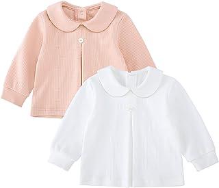 pureborn Baby &Toddler Girls Cotton Long Sleeve Shirts Blouse Tops