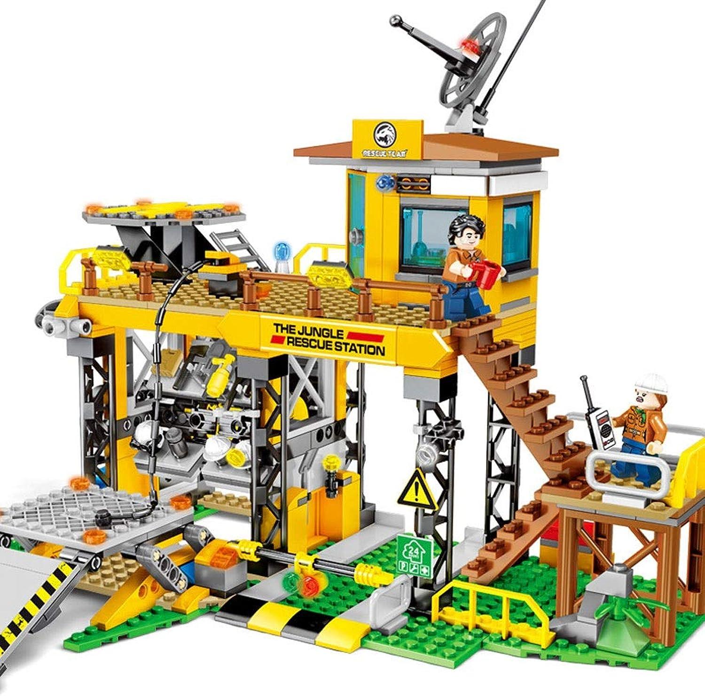 ventas en línea de venta Bloques de de de construcción de Bricolaje compatibles con Bloques de construcción Lego Doomsday Rescue Series Jungle Emergency Rescue Station Puzzle  barato en alta calidad
