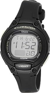 Casio Women's Grey Dial Silicone Band Watch - LW-203-1BVDF