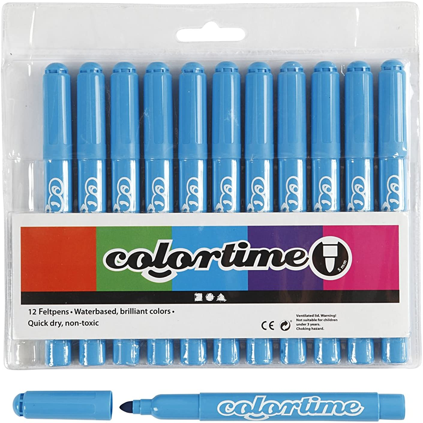 Colortime 12-Piece Marker, Light Blue