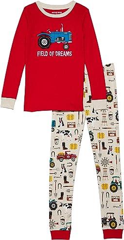 Farm Life Appliqué Pajama Set (Toddler/Little Kids/Big Kids)