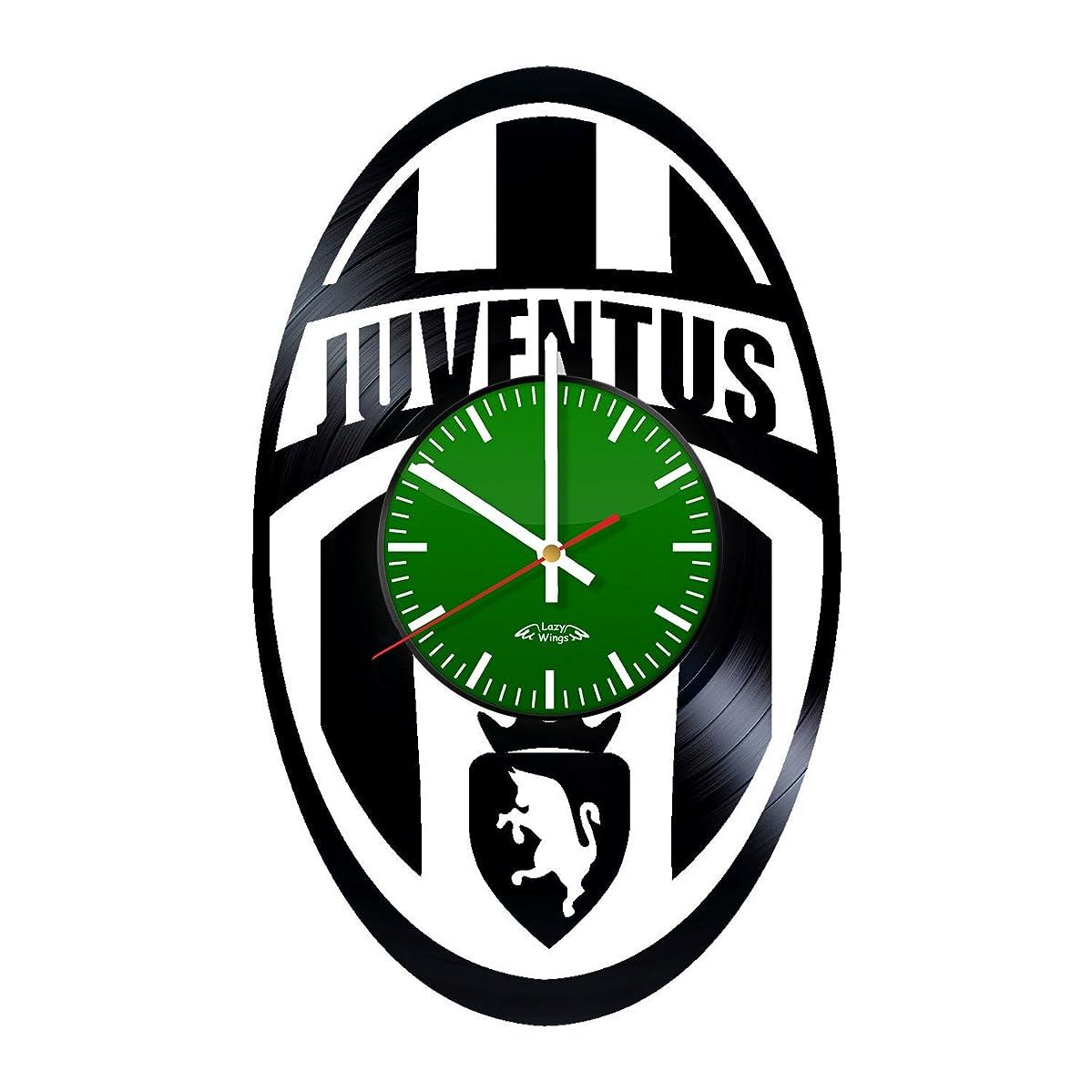 Soccer Club Logo Design Vinyl Record Wall Clock - Gift Idea for men or boys - Contemporary home wall art decoration