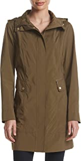 Cole Haan Women's Back Bow Packable Hooded Rain Jacket