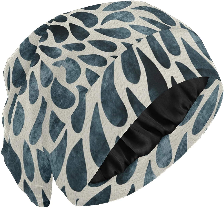 Pattern Fashion Loose Beanie Satin Lining Hat Headscarf Face Mask Bandanas Headwear Nightcap Cap Chemo Hat for Sports