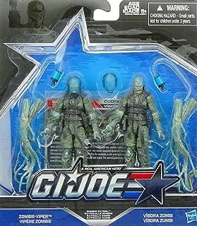 G.I. Joe, 50th Anniversary, Zombie Patrol Action Figure Set (Zombie-Viper vs Vibora Zombie), 3.75 Inches