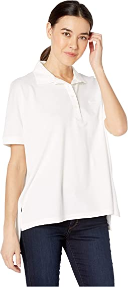 Short Sleeve Relaxed Fit Lyocell-Cotton Polo
