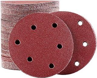 20 pcs 150 mm 15 trous Rouge Velcro Meules Assortiment Set p150//180//240//320