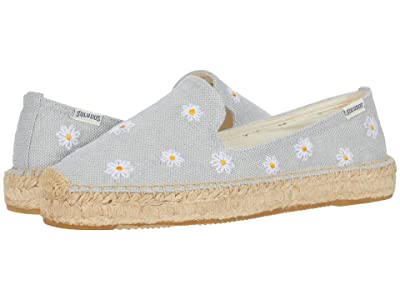 Soludos Daisies Embroidered Espadrille (Chambray) Women
