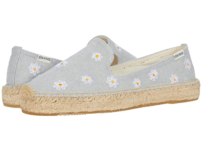 Soludos  Daisies Embroidered Espadrille (Chambray) Womens Shoes