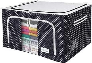 wangshang Boîte de rangement en tissu Oxford avec cadre en acier, résistante à l'humidité et à l'humidité pour draps, couv...