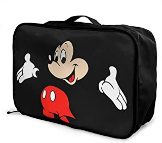 Meirdre Travel Duffel Bag Happy Mickey Mouse Lightweight Large Capacity Portable Luggage Bag Weekender Bag Overnight Carry-on Tote
